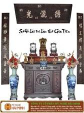 Cách sắp xếp bàn thờ gia tiên