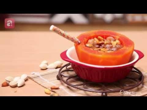 Video Clip: Cách nấu chè bạch quả đu đủ ngon bổ