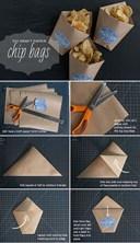 Cách làm túi giấy bảo vệ môi trường đựng đồ ăn vặt