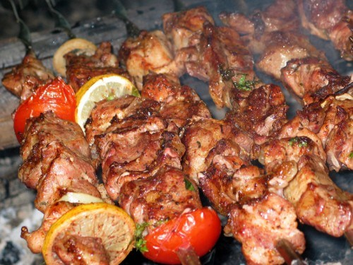 Món ăn truyền thống của người Nga: Món shashlyk