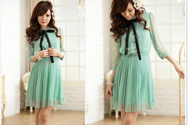 Những mẫu váy liền mùa thu đông 2012