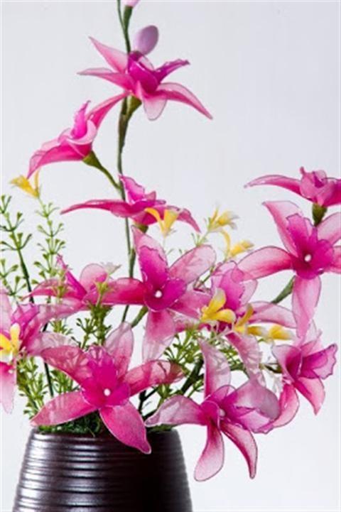 Cách làm hoa bằng vải voan