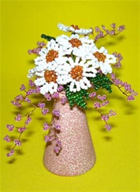Cách làm lọ hoa bằng hạt cườm