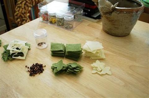 Hoa cẩm tú cầu bằng vải voan