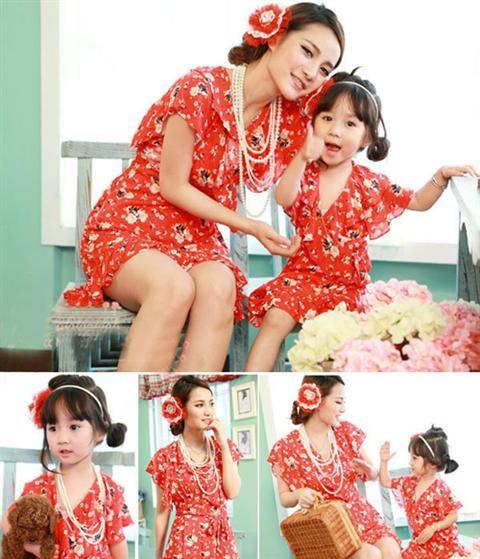 Quần áo đôi cho mẹ và bé cực dễ thương