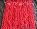 Các kiểu đan khăn len vặn thừng đẹp