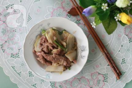 Chế biến món ăn từ rau cải thảo