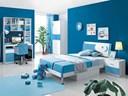 Những ngôi nhà sơn màu xanh nước biển dịu mát cực ấn tượng