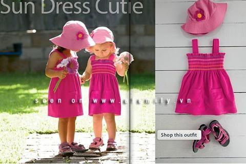 Thời trang đi biển cho trẻ em cực ngộ nghĩnh