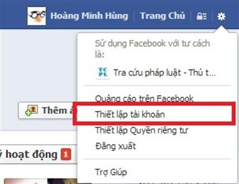 Làm sao để đổi tên trên facebook