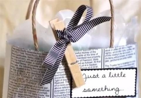 Hướng dẫn làm túi xách bằng giấy đơn giản