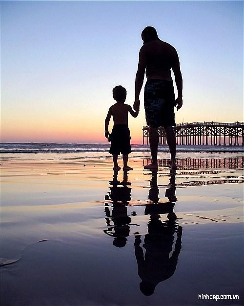 Những hình ảnh đẹp về tình cha con cực cảm động