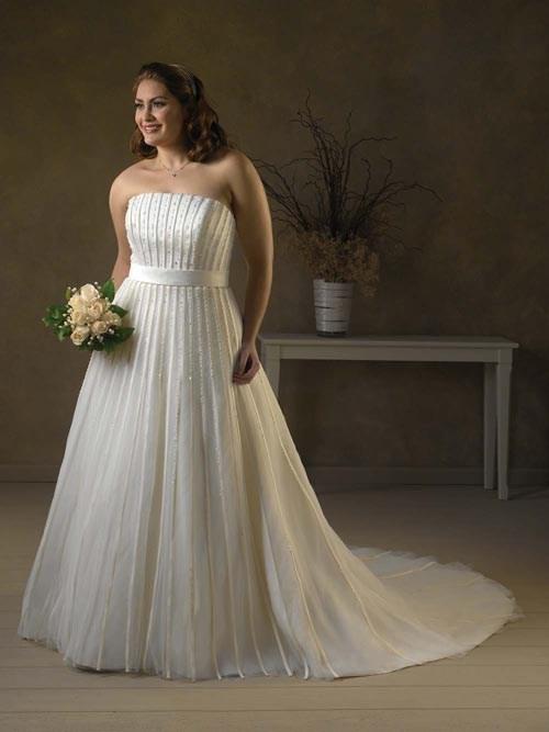 Chọn áo cưới cho cho người mập mảnh mai thanh thoát trong ngày cưới.