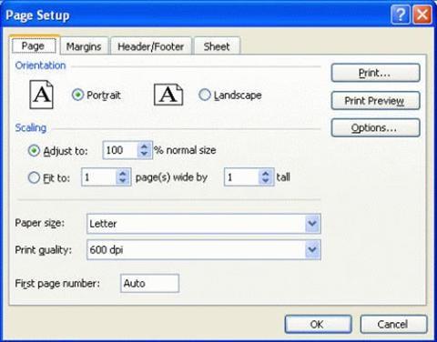 Cách chọn vùng in trong Excel 2007 chuẩn nhất