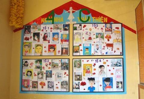 Cách trang trí lớp học thân thiện cực đáng yêu tạo hứng khới học tập.