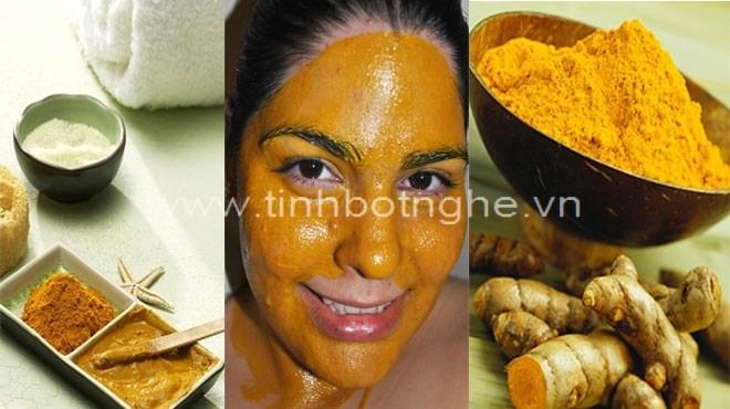 Mặt nạ dưỡng da từ bột nghệ làm trắng da trị mụn