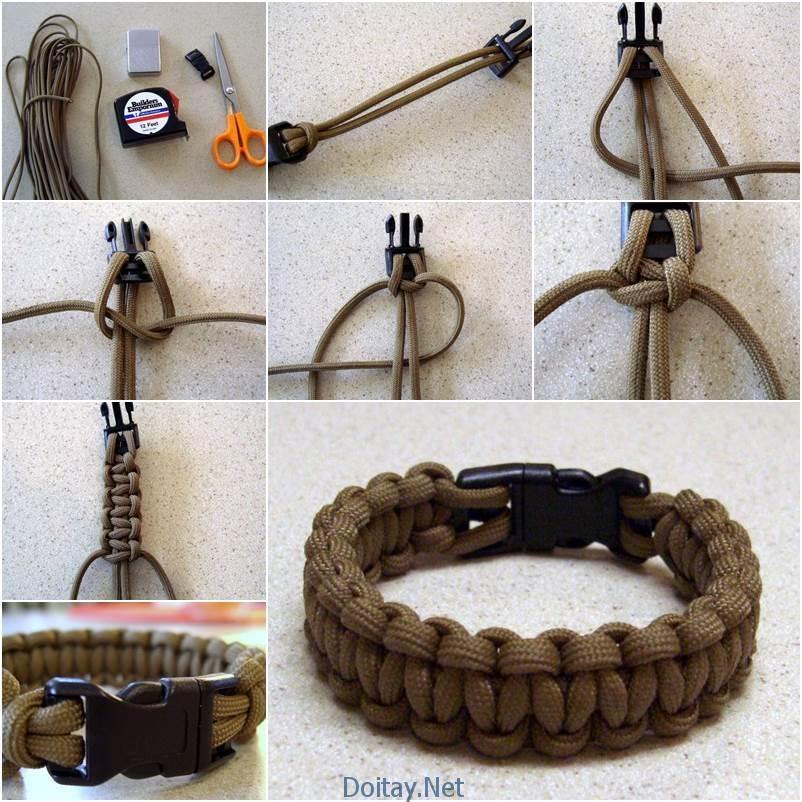 Xin gửi đến bạn hai cách tận dụng các vật liệu hết sức bình thường để làm ra bộ vòng tay dễ thương, cá tính. Mẫu 1: dây giày phối với khóa bấm nón bảo hiểm